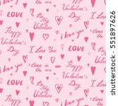 i love you valentine' s day... | Shutterstock .eps vector #551897626