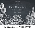 valentine's day greeting card... | Shutterstock .eps vector #551899792
