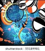 grunge background for text | Shutterstock .eps vector #55189981