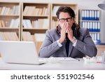 sick businessman suffering from ... | Shutterstock . vector #551902546