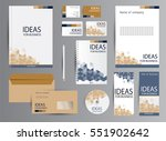 corporate identity template... | Shutterstock .eps vector #551902642