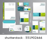 corporate identity template... | Shutterstock .eps vector #551902666