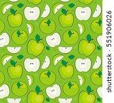 seamless vector apples pattern  ... | Shutterstock .eps vector #551906026