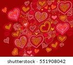 original hand drawing heart... | Shutterstock . vector #551908042