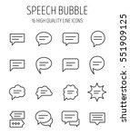set of speech bubble in modern... | Shutterstock .eps vector #551909125