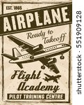 flight academy vintage poster... | Shutterstock .eps vector #551909128