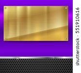 shiny brushed metal gold ...   Shutterstock .eps vector #551910616