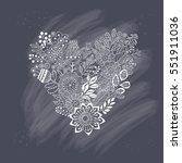 cute vintage heart shape made... | Shutterstock .eps vector #551911036