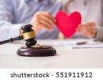 judge gavel deciding on... | Shutterstock . vector #551911912