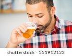 close up of bearded man... | Shutterstock . vector #551912122