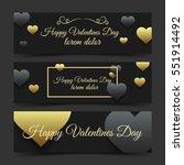 happy valentines day luxury... | Shutterstock .eps vector #551914492