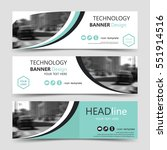 set of horizontal banner... | Shutterstock .eps vector #551914516