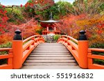 Japanese Autumn Fall. Kyoto...
