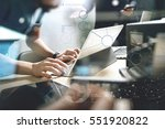 start up programming team.... | Shutterstock . vector #551920822