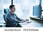 professional software developer ... | Shutterstock . vector #551935666