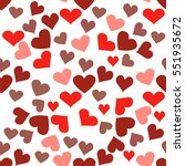 seamless pattern with hearts.... | Shutterstock .eps vector #551935672