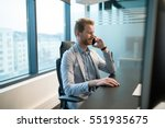 successful businessman at his... | Shutterstock . vector #551935675