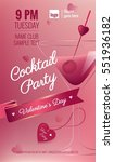 valentines day cocktail party... | Shutterstock .eps vector #551936182
