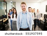 group of happy business people... | Shutterstock . vector #551937595