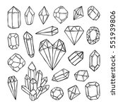 crystals  diamonds  gems and...   Shutterstock .eps vector #551939806