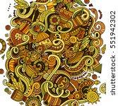 cartoon cute doodles hand drawn ... | Shutterstock .eps vector #551942302