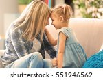 beautiful young woman and her... | Shutterstock . vector #551946562
