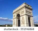 view of the arc de triomphe ... | Shutterstock . vector #551946868