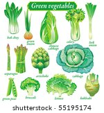green vegetables | Shutterstock .eps vector #55195174
