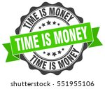 time is money. stamp. sticker.... | Shutterstock .eps vector #551955106