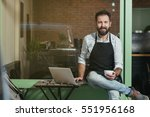 cafe owner   Shutterstock . vector #551956168