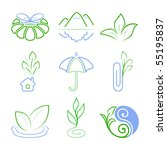nature icons | Shutterstock .eps vector #55195837