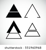 triangles. banners  insignias   ... | Shutterstock .eps vector #551960968