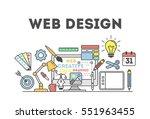 web design illustration with...   Shutterstock .eps vector #551963455