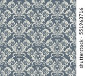 vector floral wallpaper.... | Shutterstock .eps vector #551963716