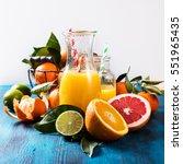 citrus vitamin juice  healthy... | Shutterstock . vector #551965435
