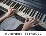 The Girl Plays Piano  Close Up...