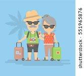 isolated retired couple on... | Shutterstock .eps vector #551965876