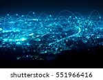 abstract line connection on... | Shutterstock . vector #551966416