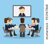 business video conference in... | Shutterstock .eps vector #551967868