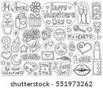 valentines day patch badges set.... | Shutterstock .eps vector #551973262