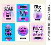 flat design sale website... | Shutterstock .eps vector #551975062