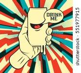 fresh drink can in hand | Shutterstock .eps vector #551977915