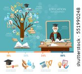 education infographic. tree of... | Shutterstock .eps vector #551990248
