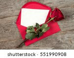 red envelope with blank letter... | Shutterstock . vector #551990908