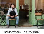 cafe owner | Shutterstock . vector #551991082