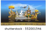 thailand detailed skyline.... | Shutterstock .eps vector #552001546