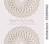 invitation card with sacred... | Shutterstock .eps vector #552004462