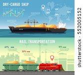 logistics banner cargo... | Shutterstock .eps vector #552005152