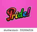 pride word custom lettering...