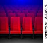 movie theater with rows of red... | Shutterstock .eps vector #552006676